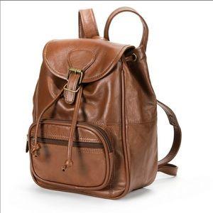 {A.P.C. AMERILEATHER} Brown Mini Backpack